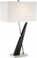 Lite Source LS-23077 Viggo Modern Dark Walnut Table Top Lamp