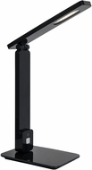 Lite Source LS-23082BLK Echo Modern Black LED Reading Light w/ USB Port