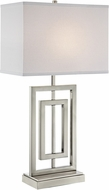 Lite Source LS-23088 Bensky Contemporary Brushed Nickel Side Table Lamp
