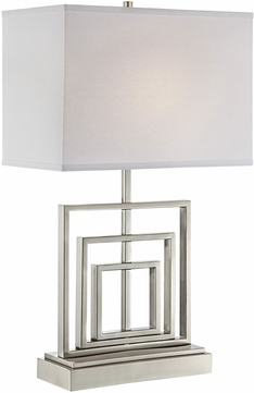 Lite Source LS-23089 Bensky Modern Brushed Nickel Table Lamp