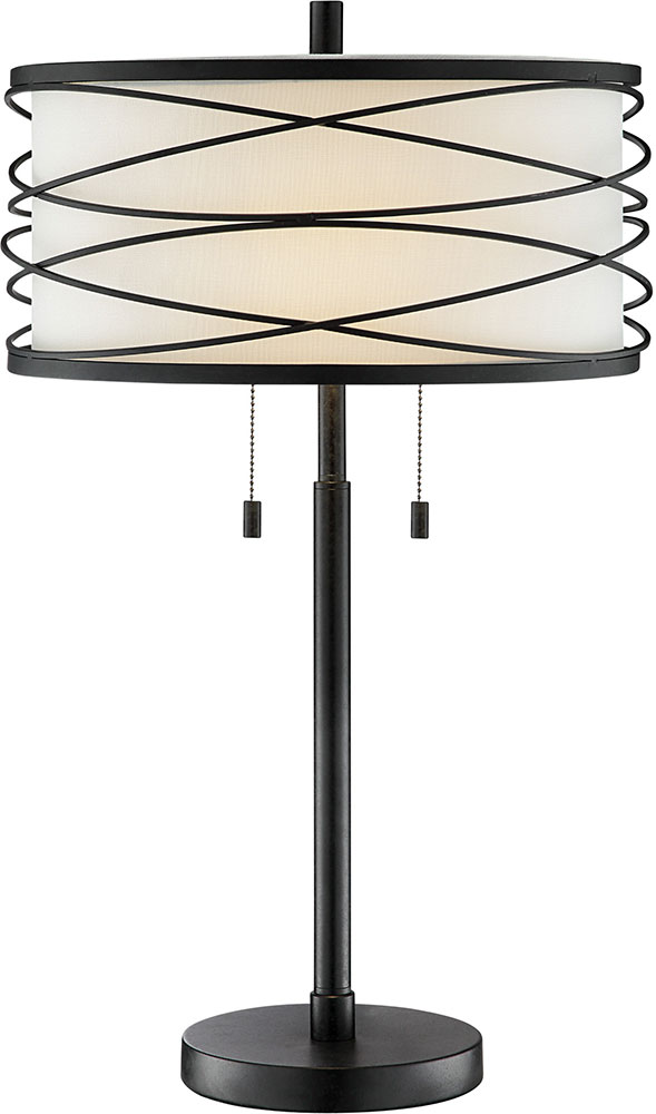 Lite Source LS 23125 Lumiere Contemporary Black Lighting Table Lamp.  Loading Zoom