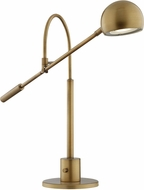 Lite Source LS-23140AB Randall Contemporary Antique Brass LED Desk Lamp