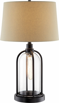 Lite Source LS-23142 Anton Modern Black Table Top Lamp