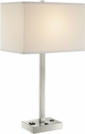 Lite Source LS-23147 Quinn Modern Brushed Nickel Side Table Lamp