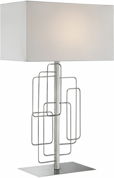 Lite Source LS-23153 Fayth Modern Brushed Nickel Table Light