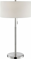 Lite Source LS-23158 Tomi Contemporary Brushed Nickel Table Lighting