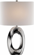 Lite Source LS-23184 Clover Contemporary Chrome Table Lamp Lighting