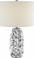 Lite Source LS-23187 Bloom Contemporary Chrome Side Table Lamp