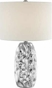 Lite Source LS-23187 Bloom Contemporary Chrome Table Lamp