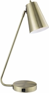 Lite Source LS-23194AB Mccoy Modern Antique Brass Task Lighting w/ USB Port