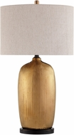 Lite Source LS-23197 Mateo Amber Glazed Table Top Lamp
