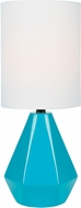 Lite Source LS-23204BLU Mason Contemporary Blue Table Lighting
