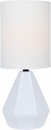 Lite Source LS-23204WHT Mason Contemporary White Side Table Lamp