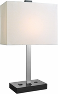 Lite Source LS-23208 Maddox II Modern Black Table Lamp w/ USB Port