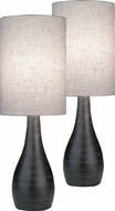 Lite Source LS-2996-2PK Quatro Modern Dark Bronze Fluorescent Table Lighting (2 Pack)