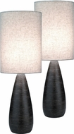 Lite Source LS-2999-2PK Quatro Contemporary Dark Bronze Fluorescent Table Top Lamp (2 Pack)