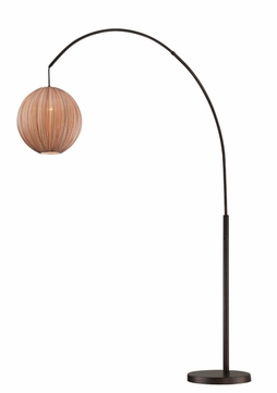 lite source ls82791 kaden copper bronze fluorescent arc floor lamp light