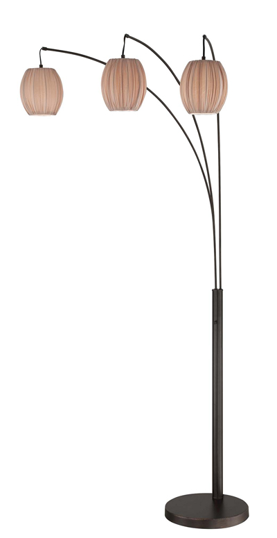 Lite Source LS 82793 Kaden Modern Copper Bronze 3 Light Arc Light Floor Lamp.  Loading Zoom