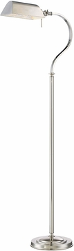 Lite Source LS-82830 Georgino Polished Steel Fluorescent Floor Lighting