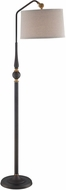Lite Source LS-82834 Burnished Bronze Fluorescent Light Floor Lamp