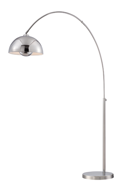 lite source ls82846 romeo chrome fluorescent arc floor lamp lighting loading zoom