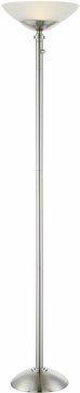 Lite Source LS-82931 Edith Modern Polished Steel LED Torchiere Lamp