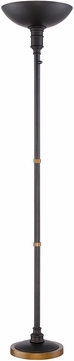 Lite Source LS-82933 Malibu Contemporary Dark Bronze LED Torchiere Light
