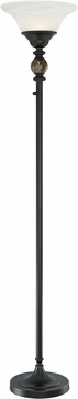 Lite Source LS-82934 Ralston Antique Black LED Torchiere Floor Lighting
