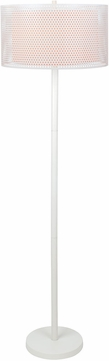 Lite Source LS-82959 Parmida White Fluorescent Light Floor Lamp