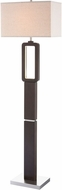Lite Source LS-83022 Leonard Modern Walnut LED Floor Lamp Light