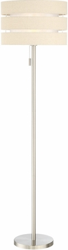 Lite Source LS-83037 Falan Contemporary Brushed Nickel Floor Light