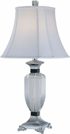 Lite Source EL-30028 Clart� Chrome Finish 13  Wide Table Lamp
