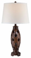 Lite Source LSF-22297 Norah Contemporary Dark Walnut Finish 16  Wide Table Lighting