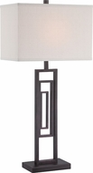 Lite Source LSF-22652 Bronx Modern Dark Bronze Fluorescent Side Table Lamp