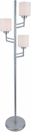 Lite Source LSF-82785PS Winston Modern Polished Steel Fluorescent Floor Lamp Lighting