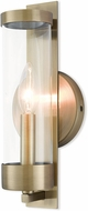 Livex 10141-01 Castleton Contemporary Antique Brass Wall Sconce