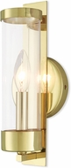 Livex 10141-02 Castleton Modern Polished Brass Wall Lamp