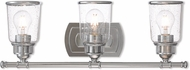 Livex 10513-05 Lawrenceville Contemporary Polished Chrome 3-Light Vanity Lighting