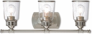Livex 10513-91 Lawrenceville Modern Brushed Nickel 3-Light Vanity Light