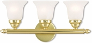 Livex 1063-02 Neptune Polished Brass 3-Light Bath Lighting