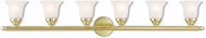 Livex 1066-02 Neptune Polished Brass 6-Light Bathroom Lighting Fixture