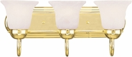 Livex 1073-02 Riviera Polished Brass 3-Light Vanity Lighting