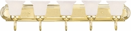 Livex 1075-02 Riviera Polished Brass 5-Light Vanity Light