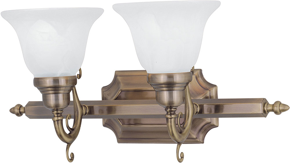 Livex 1282-01 French Regency Traditional Antique Brass 2