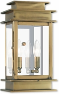 Livex 2014-01 Princeton Antique Brass Outdoor Lighting Sconce