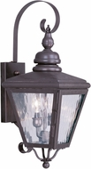 Livex 2031-07 Cambridge Bronze Exterior Wall Mounted Lamp