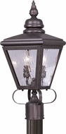 Livex 2032-07 Cambridge Bronze Outdoor Post Lamp