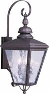 Livex 2033-07 Cambridge Bronze Exterior Wall Light Sconce