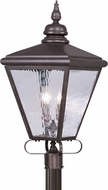 Livex 2038-07 Cambridge Bronze Outdoor Post Light
