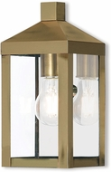 Livex 20581-01 Nyack Antique Brass Outdoor Sconce Lighting